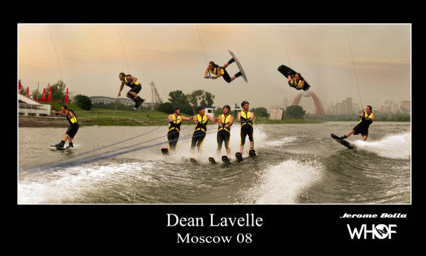 dean lavelle air kryp over 4 water skiers in moscow