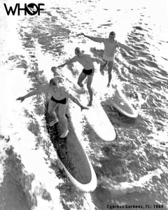 Gary Warren Sandy Reynold DIck Scotter 3 guys wakesurfing