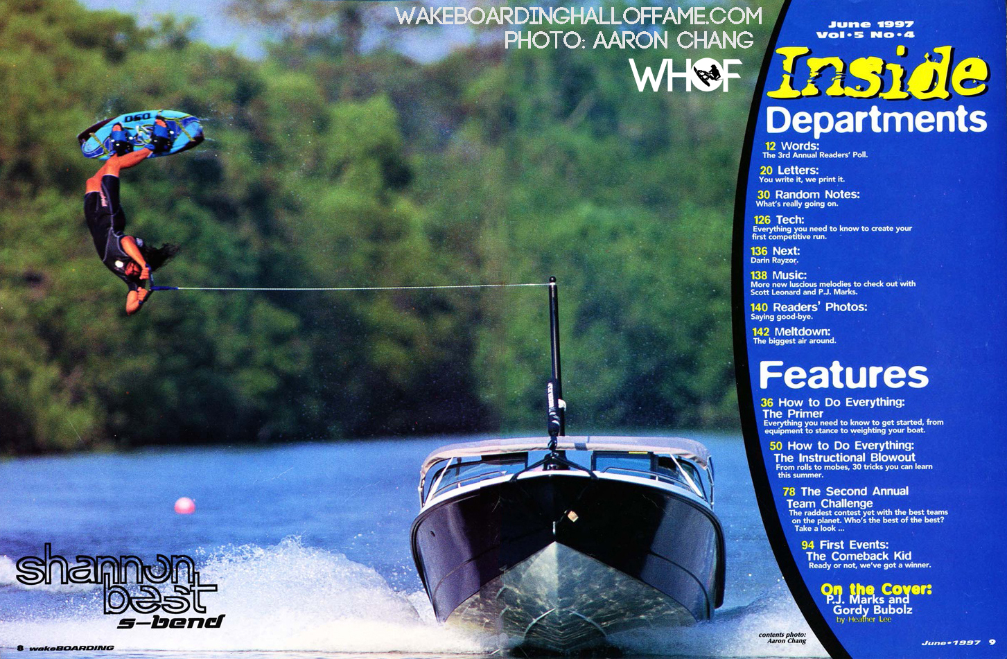 Shannon Best S-Bend wakeboarding magazine feature