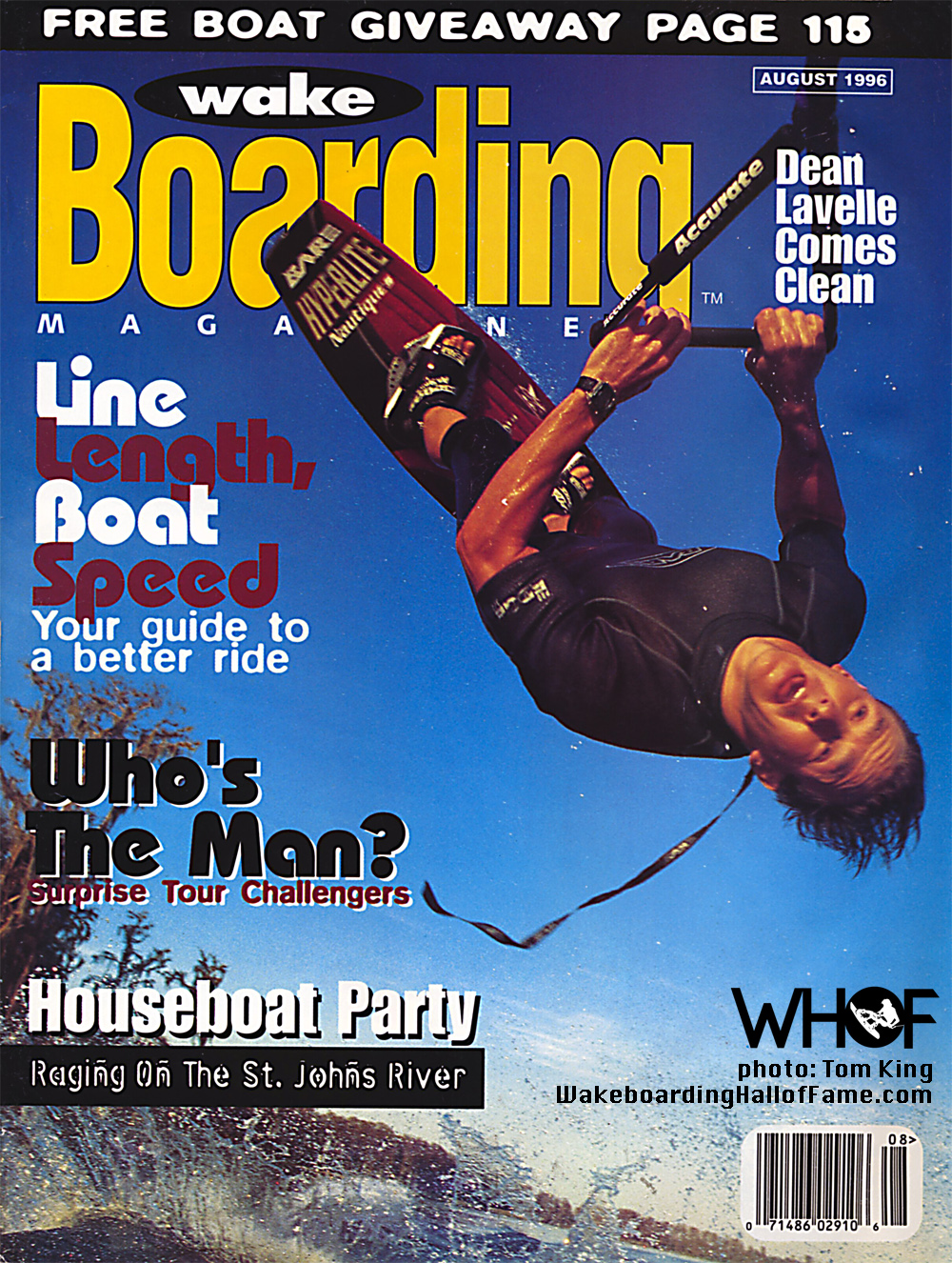 dean lavelle wakeboarding magazine cover world champion who